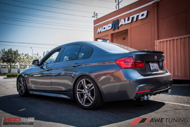 BMW_F30_328i_M4_Bumper_AWE_Quad_Exhuast_Msport_rear_Lowered (18)