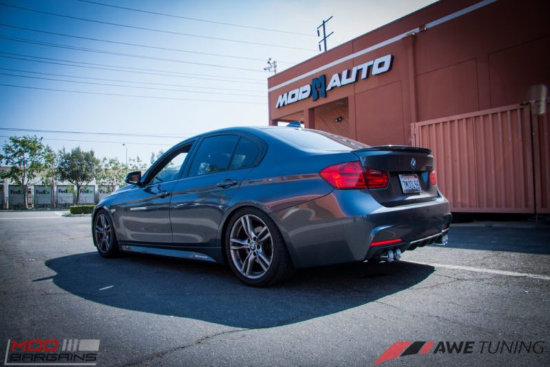 BMW_F30_328i_M4_Bumper_AWE_Quad_Exhuast_Msport_rear_Lowered (19)