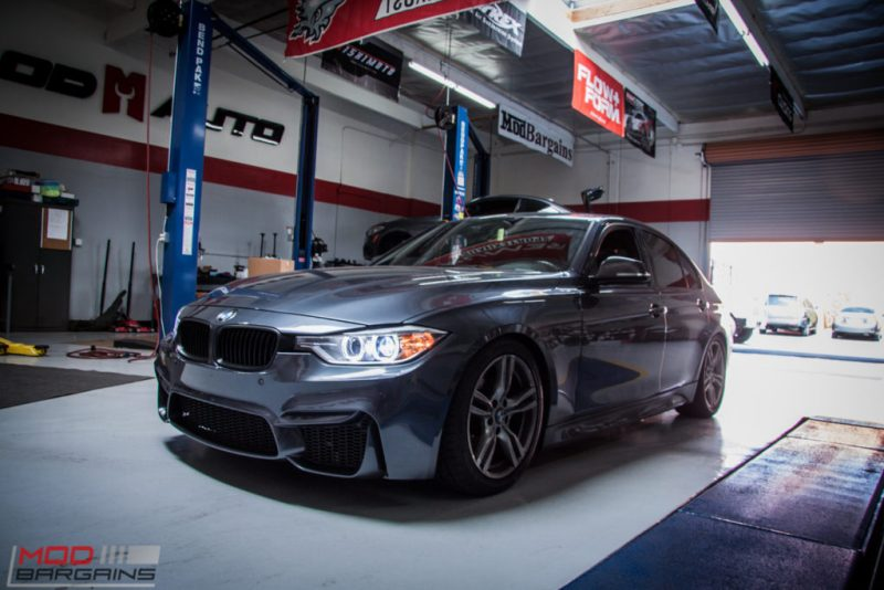 BMW_F30_328i_M4_Bumper_AWE_Quad_Exhuast_Msport_rear_Lowered (5)