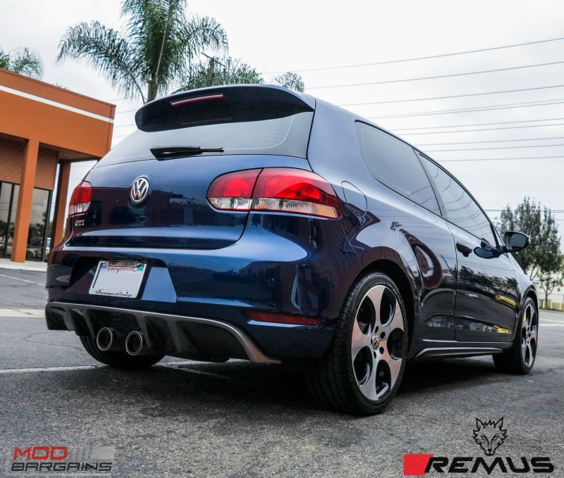 quick snap vw golf gti mk 6 gets a remus exhaust cf. Black Bedroom Furniture Sets. Home Design Ideas