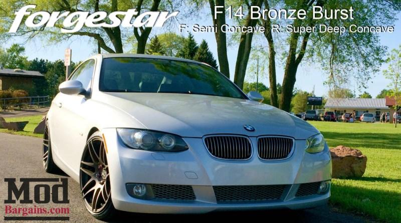 BMW E92 335i Forgestar F14 Bronze Burst 19x85 19x10 006