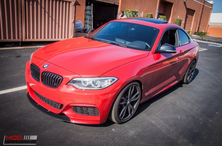 Quick Snap F22 BMW M235i Redefines Clean With Custom Splitter At ModAuto