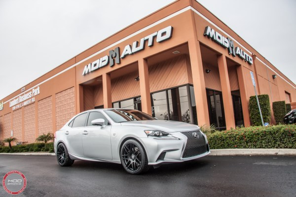 Quick Snap: Lexus IS350 on Forgestar F14 Wheels gets Tanabe Exhaust