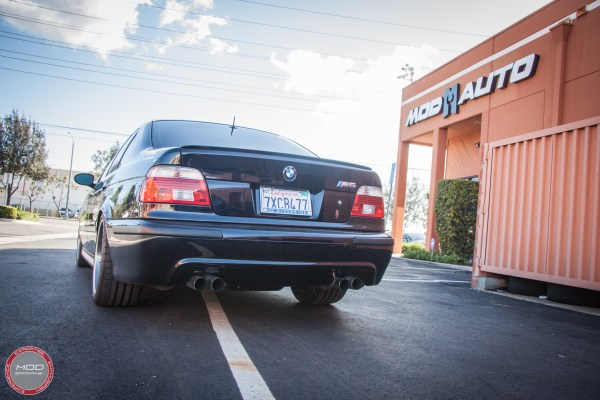 Classic E39 BMW M5 gets BC Coilovers Installed at ModAuto