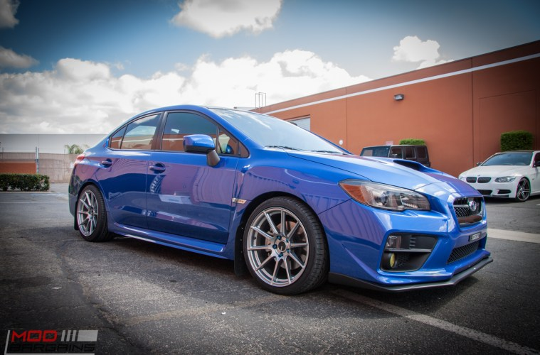 2015 Subaru WRX on Swift Springs gets Enkei TS10s @ ModAuto
