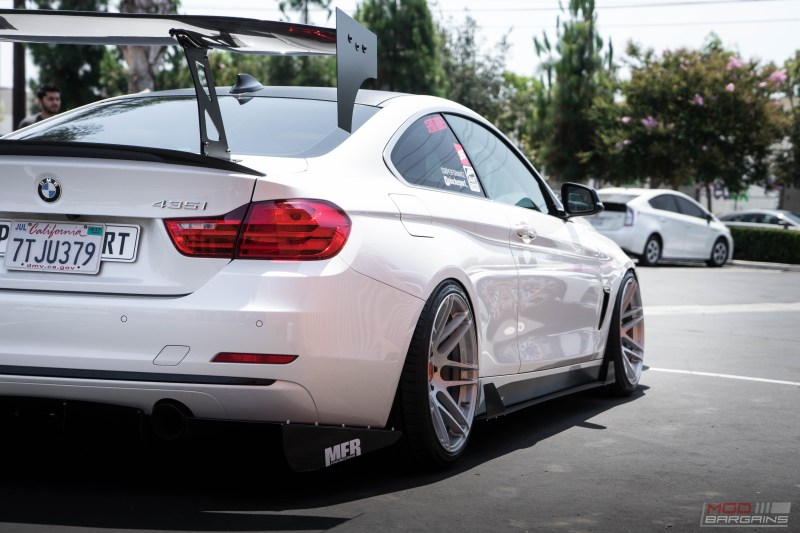 BMW F32 435i Alpine White BC Coilovers Stance slammed forgestar f14