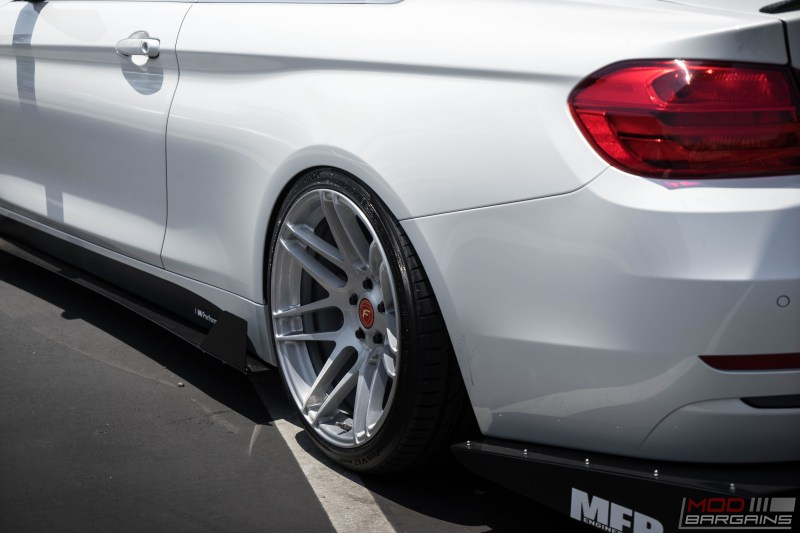 BMW F32 435i Alpine White BC Coilovers Stance slammed forgestar f14