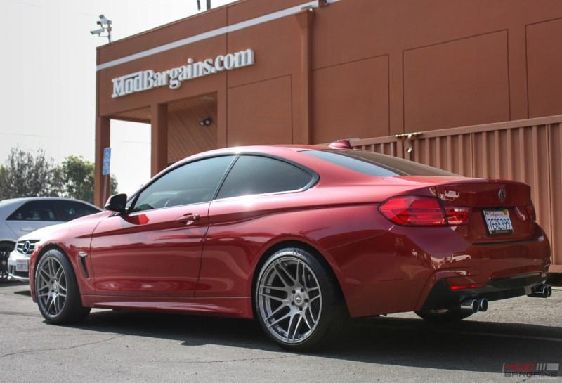 BMW F32 428i Melbourne Red Forgestar F14 Super Deep Concave