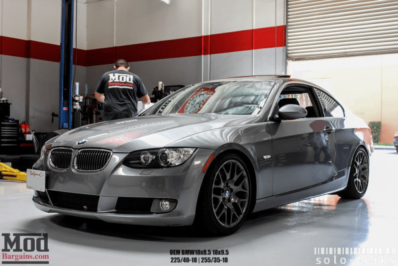 bmw e92 lowered solowerks modbargains coilovers