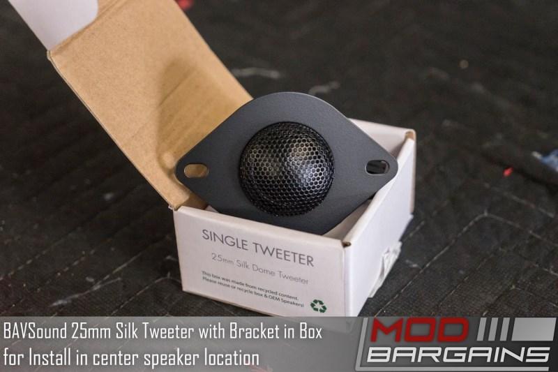 BAVSound Stage One 25mm Silk Tweeter In Box with Bracket