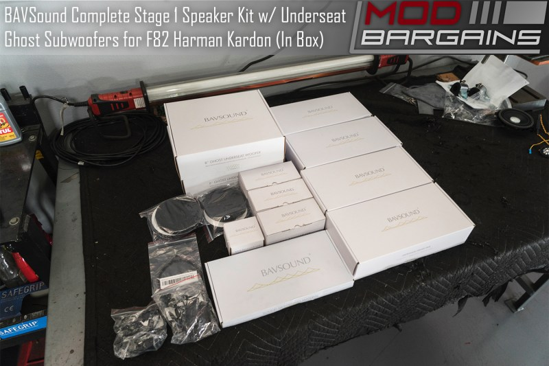 BAVSound Stage One and Underseat Ghost Subwoofer Kit for BMW F82 M4