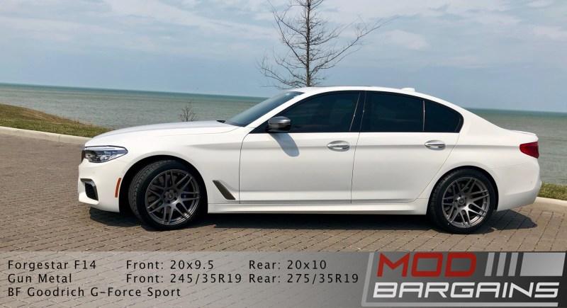 G30, M550i, bmw, forgestar, forgestar f14, BMW M550, 5 series, wheels, side