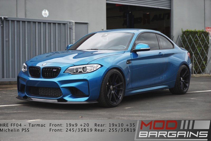 BMW M2, HRE wheels, M2, Carbon fiber lip, Front view of M2