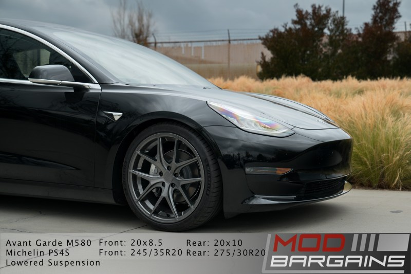 Tesla Model 3 Avant Garde M580 Kingsport Gray, wheel