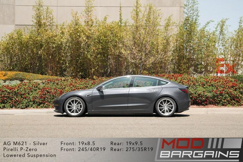 Tesla Model 3 on Avant Garde (AG) M6210 19x8.5 front and 19x9.5 rear