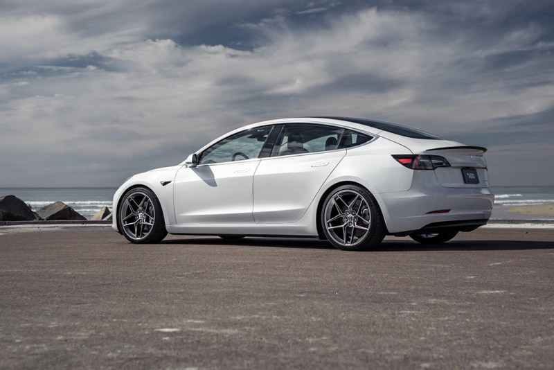 Tesla Model 3 on 20 inch HRE FF11 Wheels
