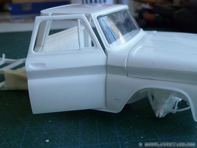 64 Chevy Pickup Fleetside Revell Kit Hinges Pillar 7