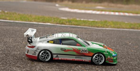LRP S10 Blast TC Porsche 911 GT3 Cup Grüne Hölle – elektromos túraautó