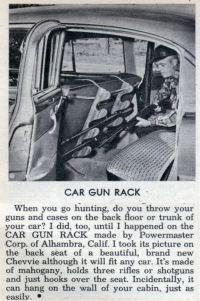 CAR GUN RACK | Modern Mechanix