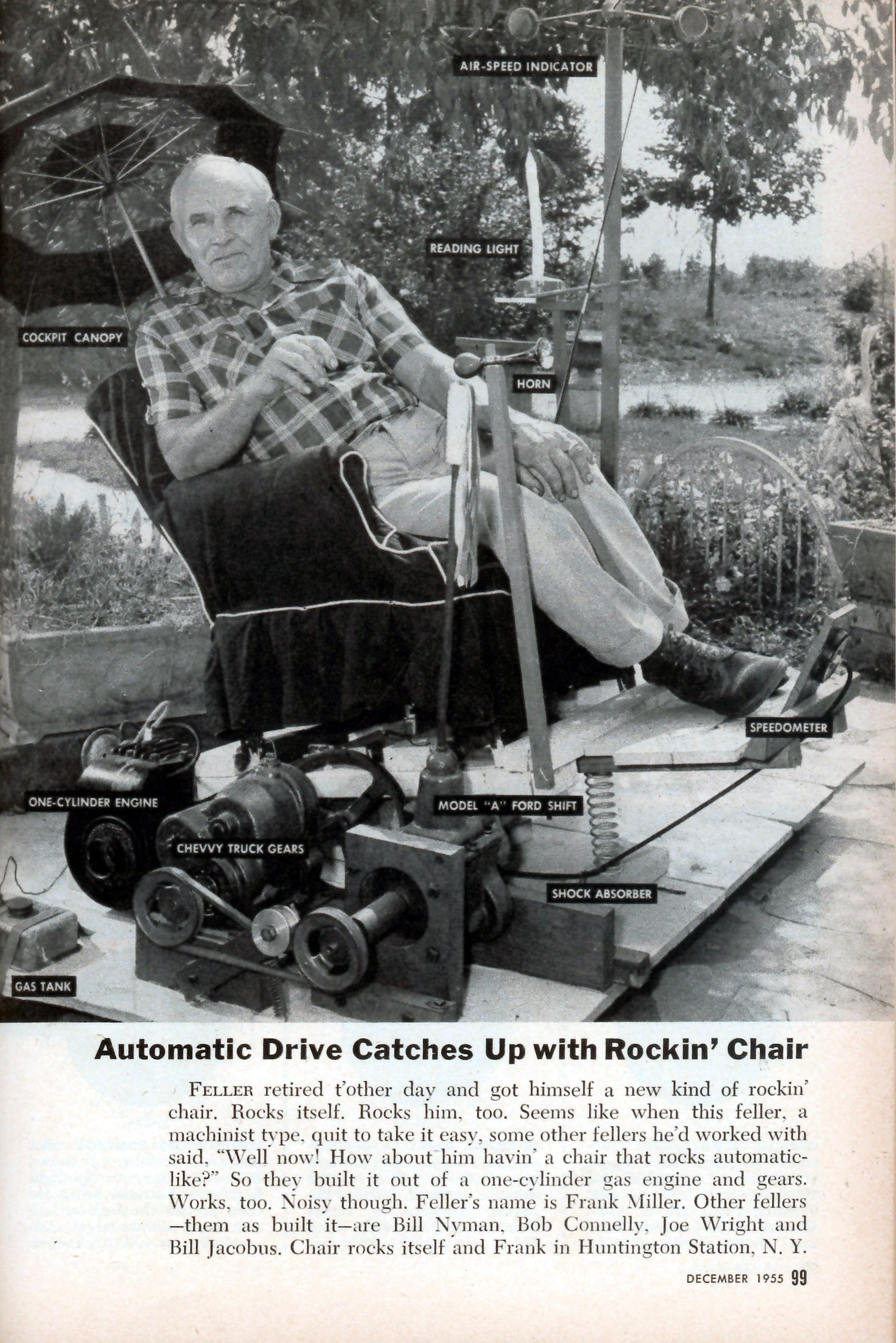 motorized easy chair browning directors rocking   modern mechanix