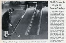 Golf Game Bowlers Alley Modern Mechanix
