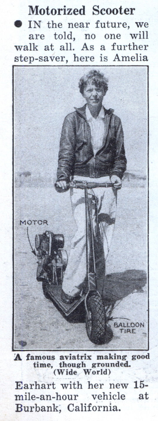 Amelia Earhart, Modern Mechanix, January 1936