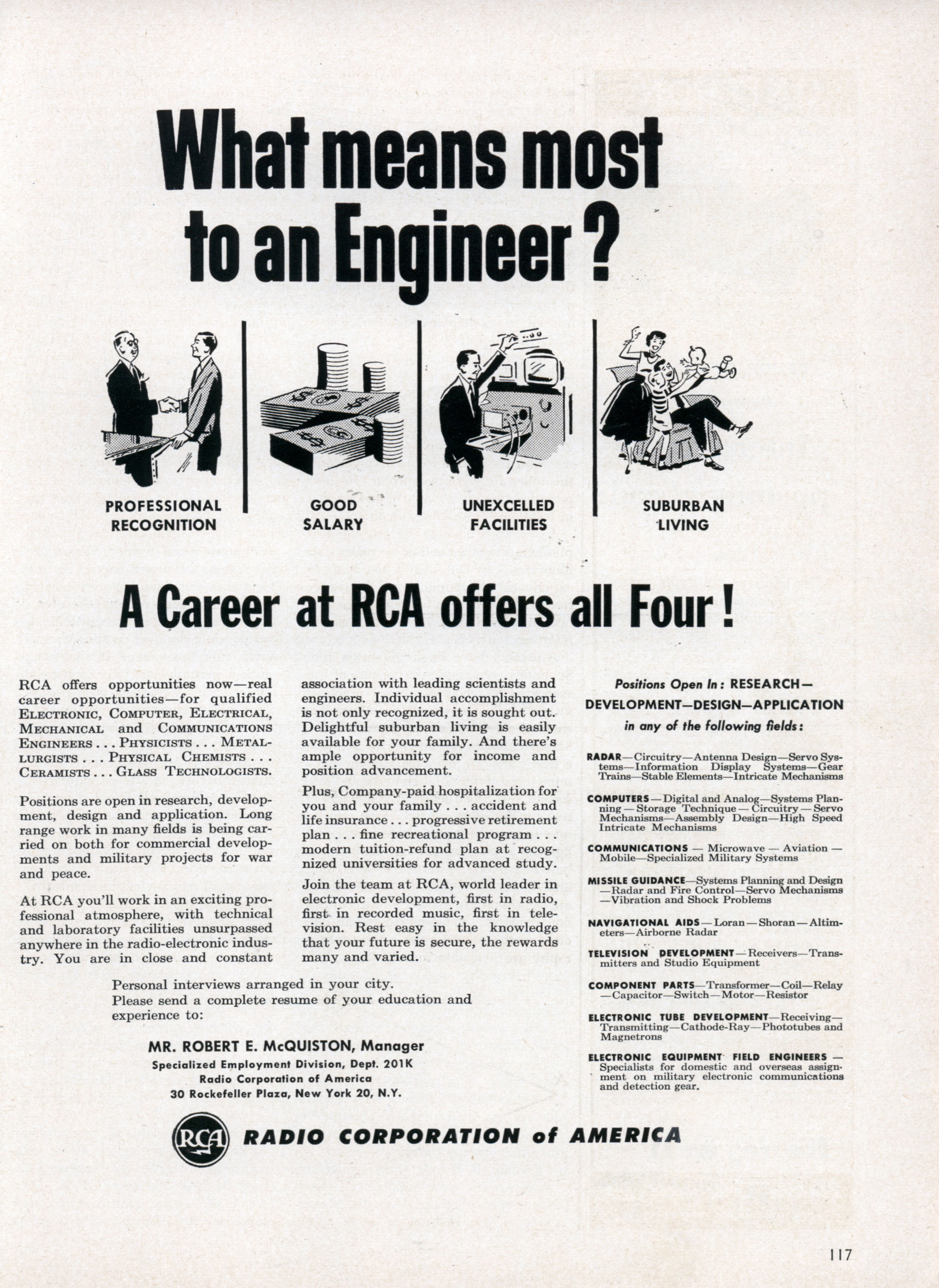 Rca Ad What Means Most To An Engineer