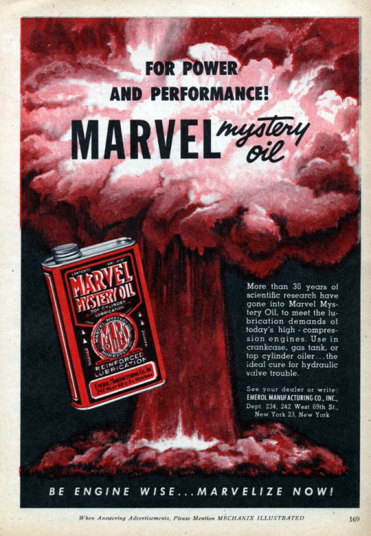 Marvel Mystery Oil - published in Mechanix Illustrated - February 1952