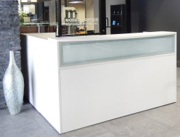 L Shaped Modern Office Reception Desk