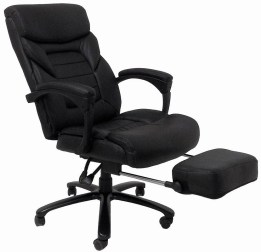 ergonomic reclining office chair with footrest