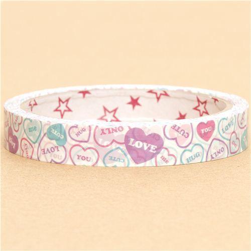 cute Heart Deco Tape love hug kawaii