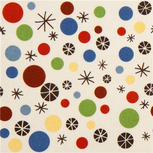cream Riley Blake fabric with dots & stars