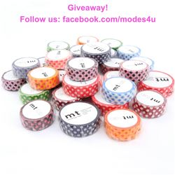 modes4u Washi Tape Giveaway, ends July 24th, 2017