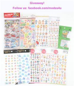 modes4u Sticker Treats Giveaway , ends November 6th, 2017