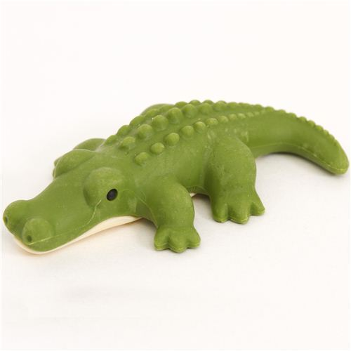 green crocodile eraser by Iwako from Japan