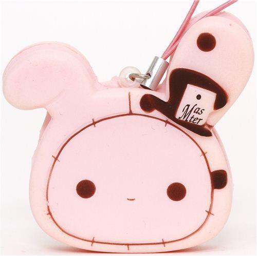 pink Sentimental Circus rabbit squishy cellphone charm