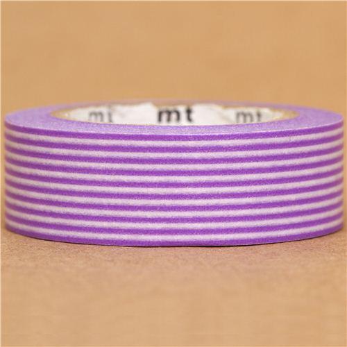 mt Washi Masking Tape deco tape with purple stripes