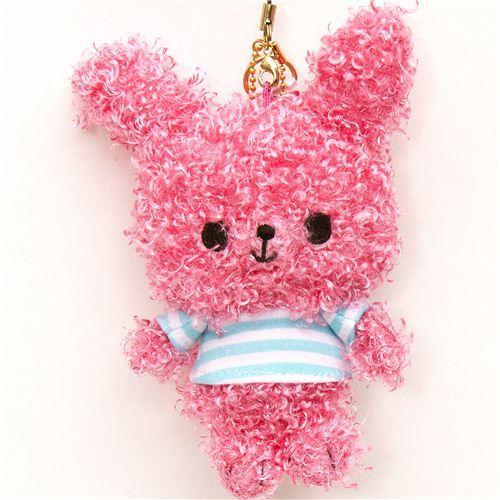 Chou-fleur pink bunny plush cellphone charm kawaii