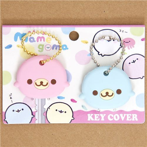 Mamagoma key cover charm blue and pink