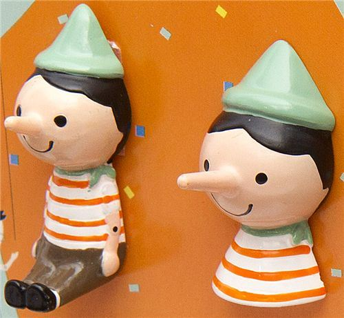 Pinocchio magnet by Shinzi Katoh