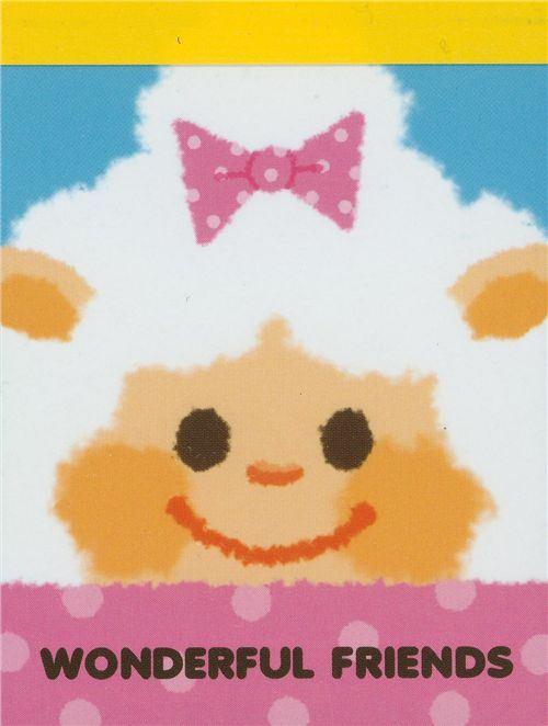 mini Memo Pad Sheep Wonderful Friends Japan kawaii