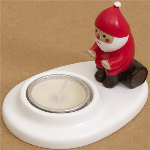 cute Christmas candle holder with Santa Claus from Japan