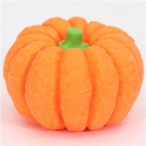 orange pumpkin eraser from Japan by Iwako