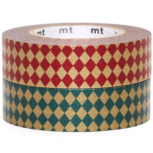 mt Washi Masking Tape deco tape set 2pcs with diamonds