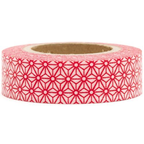 pink Washi Masking Tape deco tape red flowers