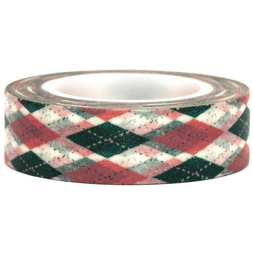 white Washi Masking Tape deco tape argyle pattern