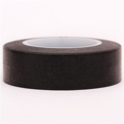 solid black Washi Masking Tape deco tape