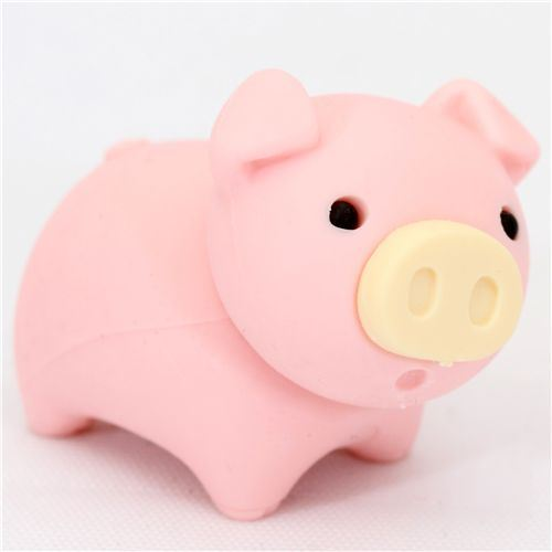 cute piggy Japanese eraser from Iwako