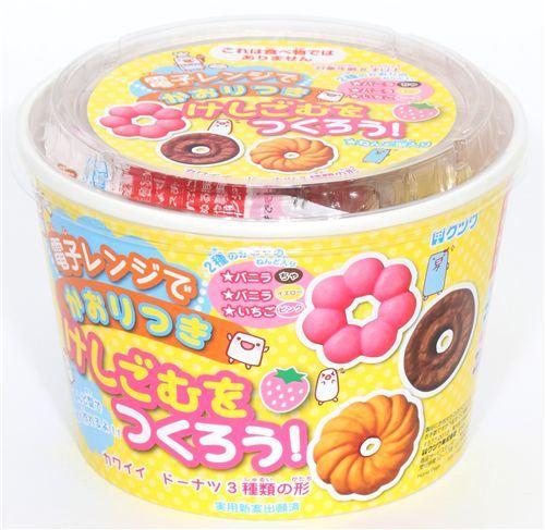 cute DIY eraser making kit Donuts from Japan