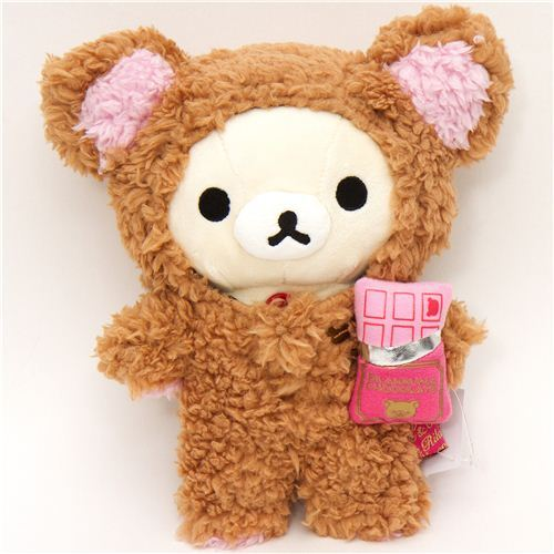 Rilakkuma plush toy white bear chocolate suit